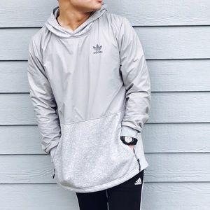 Adidas Gray oversized hoodie